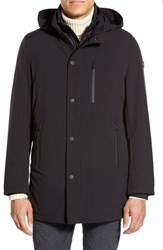 Men's Tumi 'Tech Stretch' 3 In 1 Hooded Jacket With Removable Liner Black