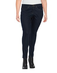 Miscellaneous Plus Dark Wash Slimming Skinny Jeans Dark Indigo