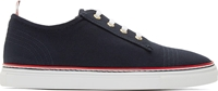 Thom Browne Navy Canvas Sneakers