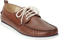 Barneys New York Lace Up Boat Shoes Brown