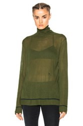 Baja East Viscose And Cashmere Sweater In Green