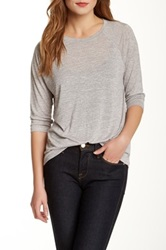 Vince Elbow Length Raglan Sleeve Tee Gray
