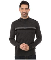 Kuhl Downhill Racr 1 4 Zip Smoke Men's Long Sleeve Pullover Gray