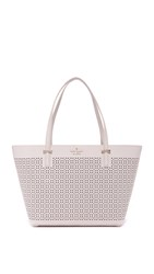 Kate Spade Perforated Mini Harmony Tote Crisp Linen