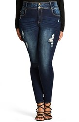 City Chic Plus Size Women's Ripped Skinny Jeans
