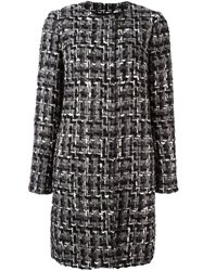 Dolce And Gabbana Slim Fit Boucle Coat Grey