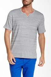 Autumn Cashmere Notched Collar Tee Gray