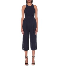 Whistles Cecilia Crepe Jumpsuit Navy