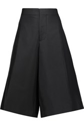 Marni Cotton And Silk Blend Culottes Charcoal