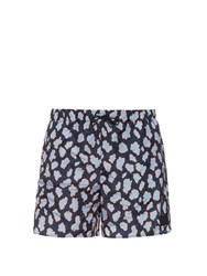 Acne Studios Perry Leopard Print Swim Shorts Blue