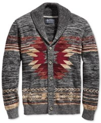 American Rag Men's Southwest Shawl Collar Cardigan Only At Macy's Ar Pewter Hthr