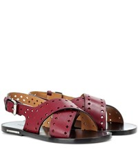 Isabel Marant A Toile Jerys Leather Sandals Red