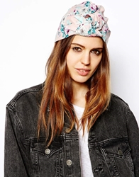 Asos Floral Oversized Knot Turban Hat Pink