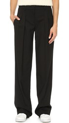 Dkny Wide Leg Pleated Pants Black