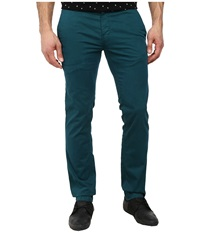Boss Orange Schino Slim 1 D Slim Fit Stretch Satin Pants Dark Green Men's Casual Pants
