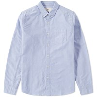 Folk Button Down Oxford Shirt Blue
