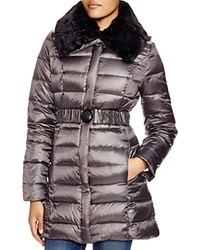 Dl2 By Dawn Levy Gabby Quilted Coat With Faux Fur