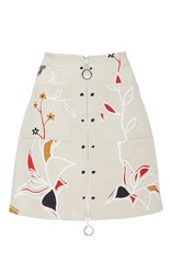 Edun Harlem Dance Linen Mini Skirt White