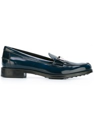 Tod's 'Double T' Loafers Blue
