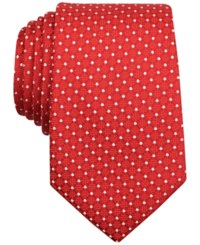 Nautica Men's Liner Dotted Classic Tie Red