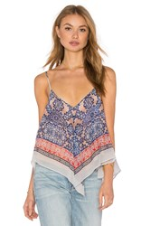Bcbgmaxazria V Neck Crop Top Blue