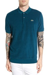 Men's Lacoste Terry Cloth Polo Papyrus Green