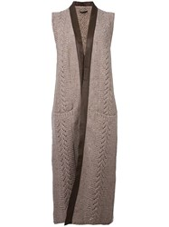 Agnona Knitted Vest Brown