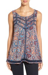 Women's Lucky Brand Ladder Stitch Paisley Tank