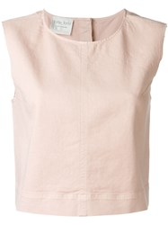 Forte Forte Cropped Tank Top Pink And Purple