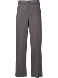 Black Fist Plaid Wide Leg Trousers Grey