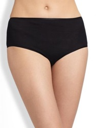 Hanro Cotton Seamless Full Brief Skin White Black