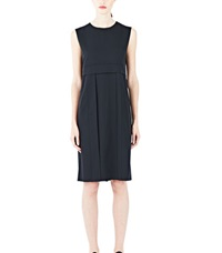 Agnona Wool Suiting Apron Dress Black