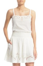 The Kooples Broderie Anglaise Sleeveless Top White