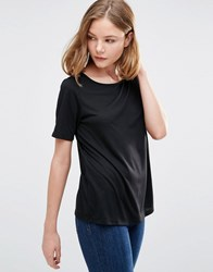 Jdy Kimmie Shirt With Lace Back Insert In Black Black
