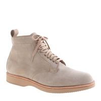 Alden For J.Crew Plain Toe Boots In Suede Milkshake Suede
