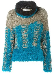 Issey Miyake Vintage Fluffy Sweater Blue