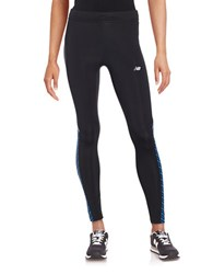 New Balance Printed Inset Leggings Blue