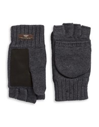 Ugg Faux Fur Lined Convertible Gloves Charcoal Heather