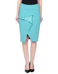 Guess By Marciano Knee Length Skirts Light Green
