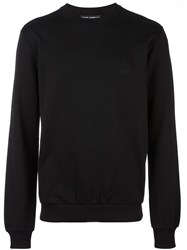 Dolce And Gabbana Embroidered Crown Sweatshirt Black