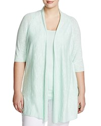 Eileen Fisher Plus Organic Linen Cotton Cardigan Green Mint