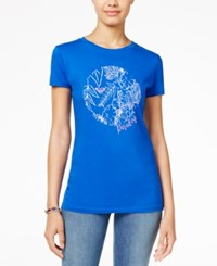 Roxy Juniors' Graphic T Shirt Royal Blue