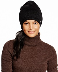Michael Kors Jersey Reversible Slouch Hat 100 Bloomingdale's Exclusive Black Black