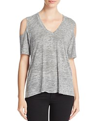 Nation Ltd. Ltd Rockaway Beach Cold Shoulder Tee Heather Grey
