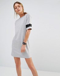 New Look Varsity Sweat Dress Grey