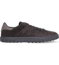 Tod's Suede Tennis Trainers Grey