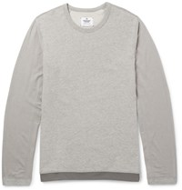 Reigning Champ Drawstring Hem Stretch Jersey Sweatshirt Gray