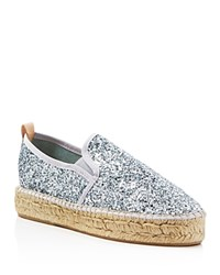 Charles By Charles David Sancha Glitter Espadrille Flats Compare At 150 Silver