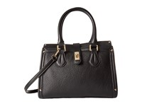 Calvin Klein Laiken Pebble Satchel Black Gold Satchel Handbags