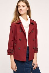 Anthropologie Cropped Swing Trench Wine